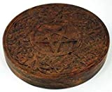 "Wooden Pentagram Altar Tile 6"" (RA603) -"