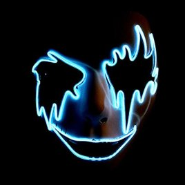 Circle Circle El Wire Glowing LED Halloween Masks (Sky Blue)