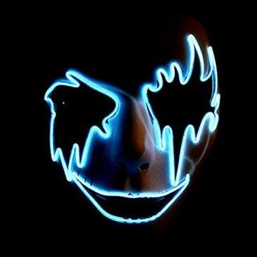 Circle Circle El Wire Glowing LED Halloween Masks (Sky Blue)