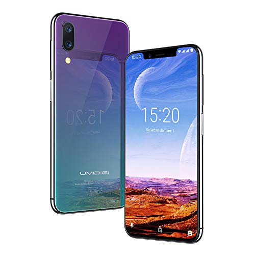 "UMIDIGI ONE Pro Global Version Unlock Phone - 64GB+4GB - 5.9"" HD+ Display 19:9-12MP+5MP Rear Camera+16MP Selfie - Dual 4G Volte - Wireless Charge NFC - Android 8.1 Smartphone Unlocked(Twilight)"