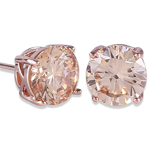 eb880ba0e GULICX Rose Gold Tone Yellow Crystal Royal Journey Jewelry Eternity Stud  Earring