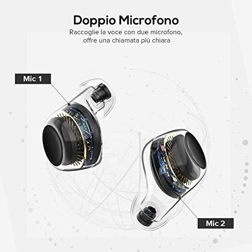 Mpow Auricolari Bluetooth Sport, Cuffie Bluetooth Touch Control/ IPX7 Impermeabile/ 2 Modalità/ BT 5.0/ 21 Ore Playtime con 850mAh, Cuffie Bluetooth in Ear Microfono per IPhone Samsung Huawei ecc