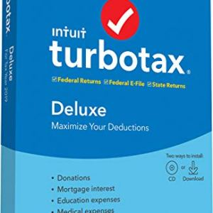 [Old Version] TurboTax Deluxe + State 2019 Tax Software [PC/Mac Disc] 2