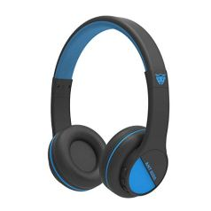 Ant Audio Treble 500 On-Ear HD Bluetooth Headphones with Mic (Black and Blue)