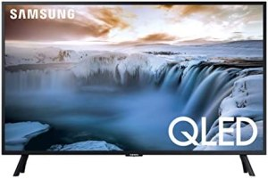 SAMSUNG QN32Q50RAFXZA Flat 32″ QLED 4K 32Q50 Series Smart TV (2019 model)
