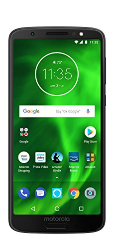 Moto G6 with Alexa Hands-Free - 32 GB - Unlocked (AT&T/Sprint/T-Mobile/Verizon) - Black - Prime Exclusive Phone