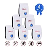 Replitel Ultrasonic Pest Repeller, 2019 Newest Child and Pets Safe Pest Control Ultrasonic Repellent, Non-Toxic Spider Repellent Indoor for Mosquito Spider Ant Mice Roach and Other Insects (6 Packs)
