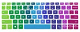 Silicone Keyboard Cover Skin Protector Compatible with 2018 Released Dell XPS 13 9370 & 2017 Released Dell XPS 13 9365 13.3 inch 2 in 1 Ultrabook Laptop (NOT Fit Any Other Models) (Rainbow)