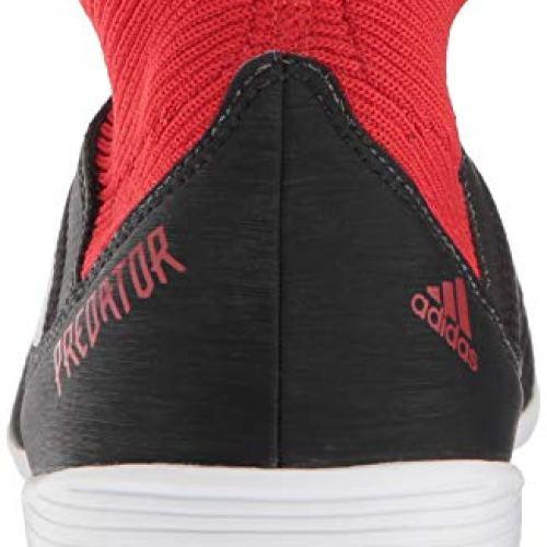 ab77ed23aa0f56 adidas Men's Predator Tango 18.3 Indoor Soccer Shoe, Black/White/Red, 13.5  M US