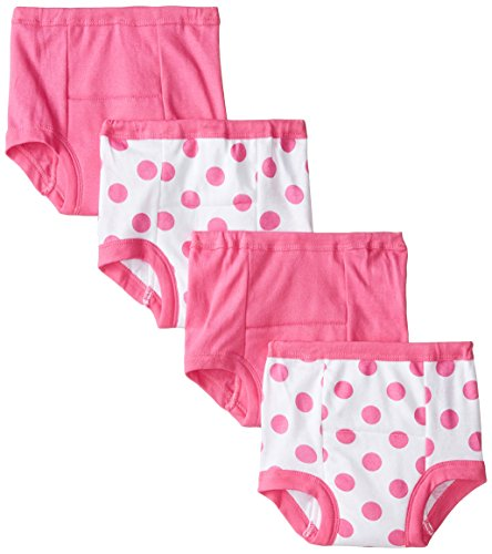 Gerber Toddler Girls' 4 Pack Training Pants, Polka Dot, 2T
