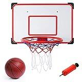 Liberty Imports Indoor/Outdoor XL Big Basketball Hoop Set - 27' x 18' Backboard + 15' Rim