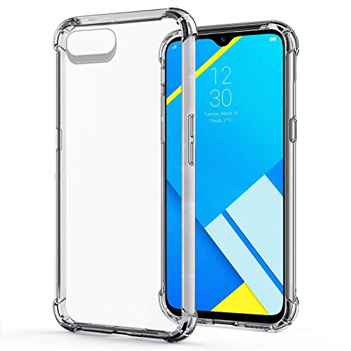 JGD PRODUCTS Shock Proof Protective Soft Back Case Cover for Realme C2 (2019) (Transparent) [Bumper Corners with Air Cushion Technology] 220