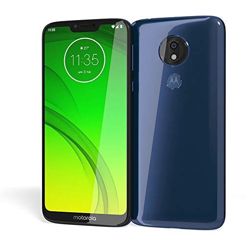 Motorola Moto G7 Power (64GB, 4GB RAM) Dual SIM 6.2' 4G LTE (GSM Only) Factory Unlocked Smartphone International Model XT1955-2 No Warranty (Marine Blue)