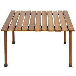 Best Choice Products 28x28in Foldable Indoor Outdoor Portable Wooden Table for Picnics, Camping, Beach w/Carrying Case