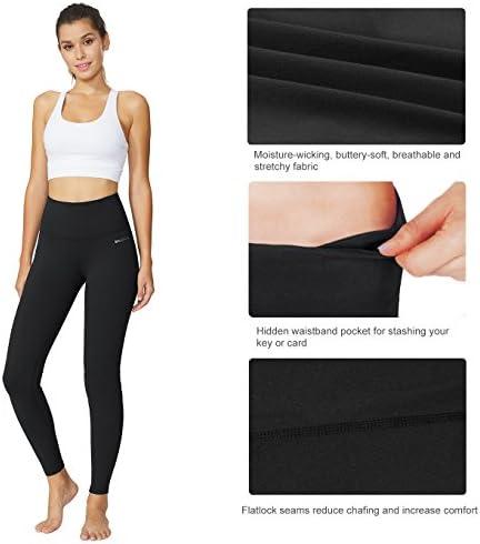 "BALEAF Women's 20"" / 28"" High Waisted Yoga Leggings Workout Capri Tummy Control Pants with Pocket(Plus Size/Regular) 5"