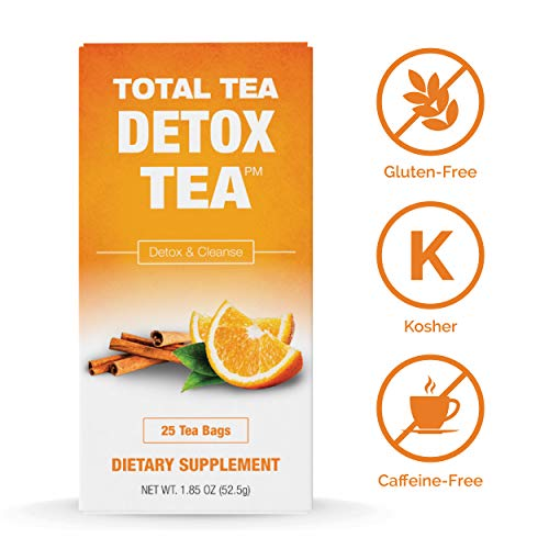 Total Tea Caffeine Free Detox Tea - All Natural - Slimming Herbal Tea for Gentle Cleansing - 25 Tea Bags 4