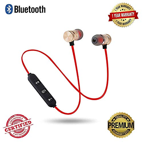41 WPriRPzL agrd Wireless Magnet Bluetooth Earphone Headphone with Mic, Sweatproof Sports Headset, Best for Running and Gym, Stereo Sound Quality for All Smartphones