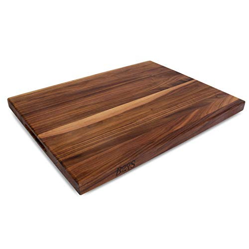 John Boos WAL-R02 Walnut Wood Edge Grain Reversible Cutting Board, 24 Inches x 18 Inches x 1.5 Inches