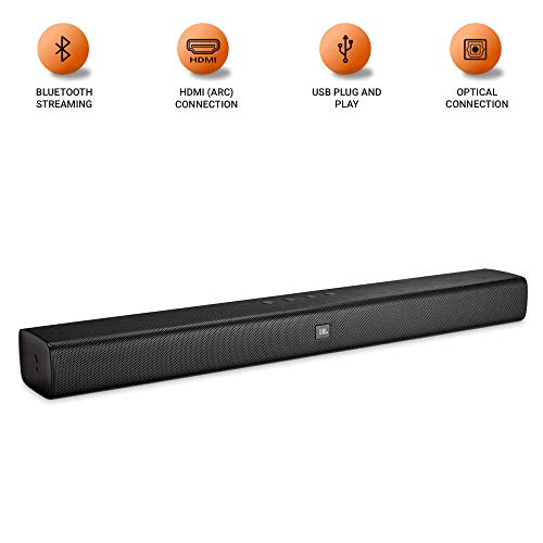 JBL Bar Studio Wireless Soundbar with JBL Surround Sound & Built-in Dual Bass Port (30W, Black) TODAY OFFER ON AMAZON