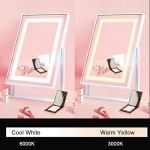 ANDY-STAR-Vanity-Mirror-with-Lights-Lighted-Makeup-Mirror-Modern-Matte-White-with-2-Color-Lighting-Rotating-Metal-Frame-Mirrors-for-Makeup-Room-Dressing-Room-and-Bedroom
