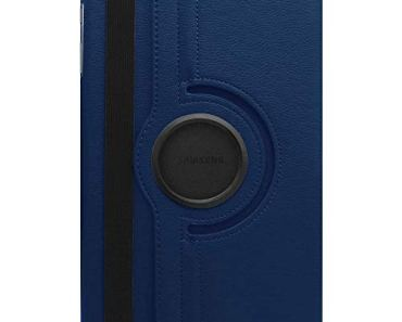 SwooK Rotating Stand Flip Cover Case for Samsung Galaxy Tab A7 10.4 inch [2020 Release] SM- T500 T505 T507 Tab Flip Cover Case (Navy Blue)