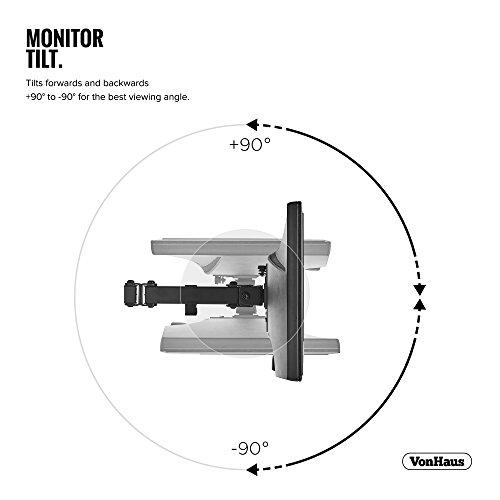"41 fKpog%2BPL - VonHaus Dual Monitor Stand for 13-32"" Screens - Double Arm Desk Mount Bracket - Ergonomic ±180° Tilt, 360° Rotation & Twin 360° Swivel Arms - VESA Dimensions: 75x75-100x100"