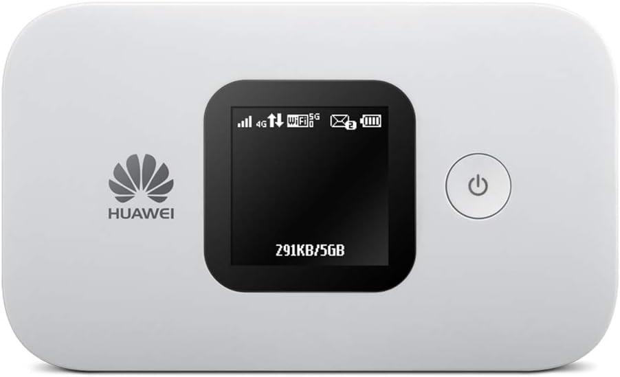 Huawei E5577 blanc 4G LTE 150 mégabit/s Modem Hotspot WiFi USB, Batterie 1.500 mAh, 2 x TS9