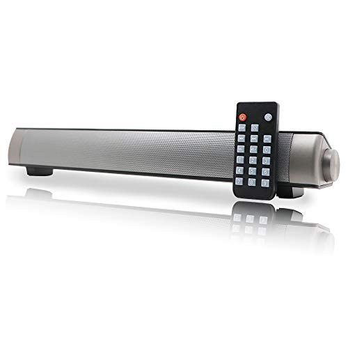 Soundbar TV Sound bar 3D Surround Sound Speaker, Mini Soundbar Home Theater with Remote Control Dual Connection Methods for TV PC Smartphones Music and Movie