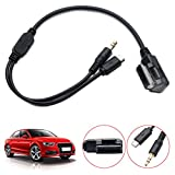 MASO Car Aux Adapter Cable AMI MDI MMI 3.5mm Music Interface Charger Cord for AudiA1 A3 A4L A5 A6L A8 Q3 Q5 Q7 TT VW to Android