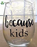 Design Small Cup Sticker DIY Because Kids Funny Wine Drinking Glass Cup Decoration Beauty Fashion Ornament Decals LX62