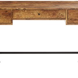 Coaster Home Furnishings Barritt Industrial Writing Desk, Antique Nutmeg & Black
