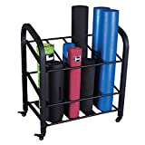 Body-Solid Foam Roller and Yoga Mat Storage Cart (GYR500)