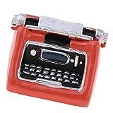 NATFUR 1:12 Dollhouse Miniature Vintage Typewriter Handicrafts Model Decor Orange