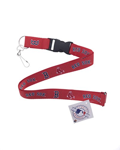 Baseball Sports Lanyard Keychain with Clip (Red Sox)