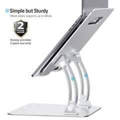 Nulaxy-Laptop-Stand-Ergonomic-Height-Angle-Adjustable-Computer-Laptop-Holder-Compatible-with-MacBook-Air-Pro-Dell-XPS-Samsung-Alienware-All-Laptops-11-17-Supports-Up-to-44-Lbs-Silver