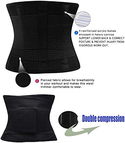 Reshe Waist Trainer Belt for Women Fitness- Waist Cincher Trimmer - Slimming Body Shaper Belt - Sport Girdle Belt 2