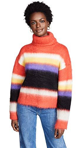 81N0L0hhEiL Chunky brushed knit 35% mohair/35% alpaca/30% nylon Dry clean