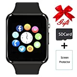 Bluetooth Smartwatch,Smart Watch Unlocked Watch Phone can Call and Text with TouchScreen Camera Notification Sync Compatible for Android and IOS Phone(Black)