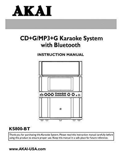 Akai KS800-BT Karaoke System Owners Instruction Manual Reprint