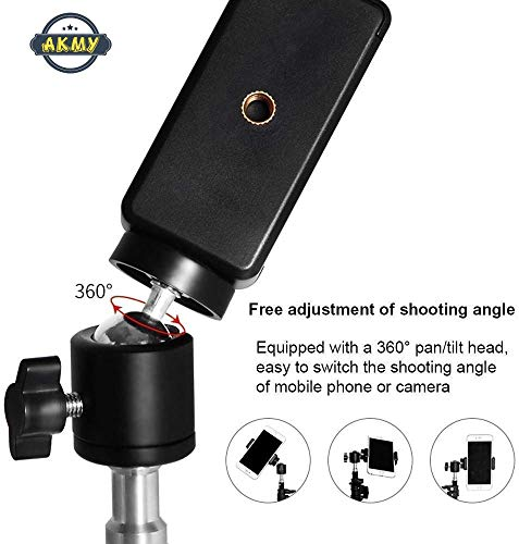 410MmN  GtL AKMY 7 Feet Big Big Tripod Stand for Phone and Camera Adjustable Aluminium Alloy Big Tripod Stand Holder,Photo/Video Shoot,TIK Tok/YouTube Videos with Mobile Clip Holder Bracket