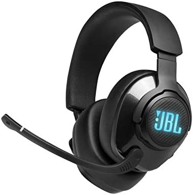 JBL Quantum 400 – Wired Over-Ear Gaming Headphones with USB and Game-Chat Balance Dial – Black