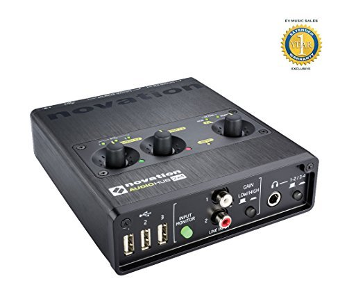 Novation Audiohub 2x4 24-bit/96kHz, 2-in/4-out USB Audio Interface with 1 Year Free Extended Warranty