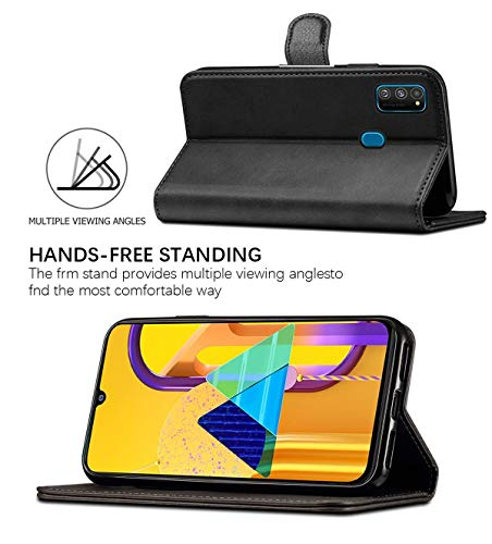WOW Imagine Galaxy M21 / M30s Flip Case | Leather Finish | Inside TPU with Card Pockets & Stand | Magnetic Closure | Shock Proof Wallet Flip Cover for Samsung Galaxy M30s / M21 - Black 5