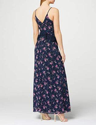 TRUTH-FABLE-Womens-Sprig-Floral-Cami-Maxi-Party-Dress