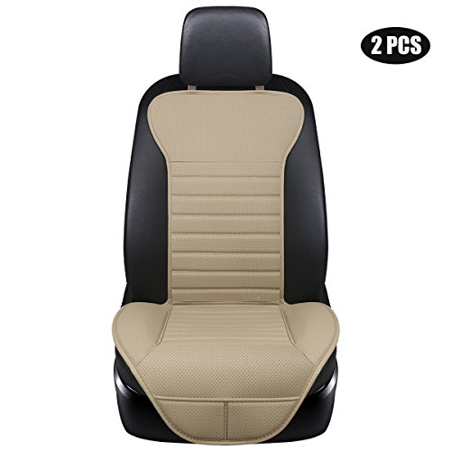 EDEALYN (2PCS) PU Leather Seat Covers