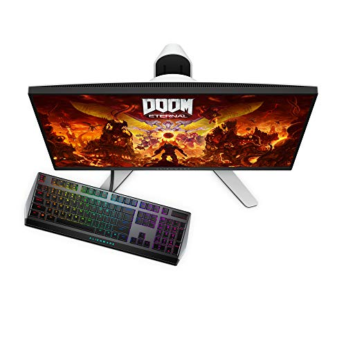 Dell Alienware 27 inch (68.58cm) Full HD Gaming Monitor with HDMI and DP Ports, IPS Panel, 240Hz, 1ms, AMD Free Sync, Tilt, Swivel, Height-Adjustable - AW2720HF (Black)