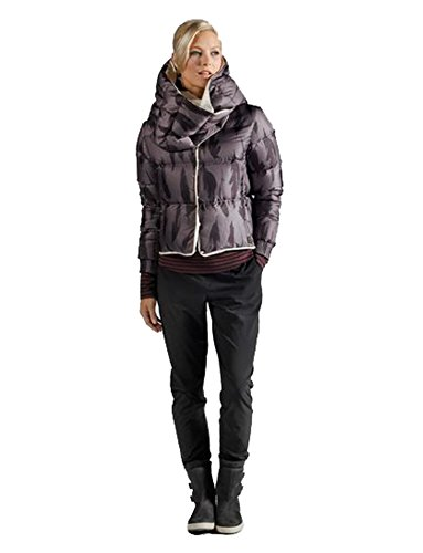 410jqtrvwkL Cropped Down Jacket in collarless design with matching down infinity scarf European luxury 800FP goose down from Allied Turn around design wearable on both sides