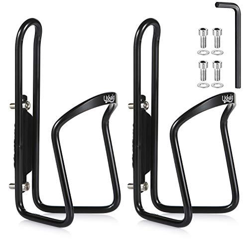 UShake Water Bottle Cages, Basic MTB Bike Bicycle Alloy Aluminum Lightweight Water Bottle Holder Cages Brackets (2 Pack)