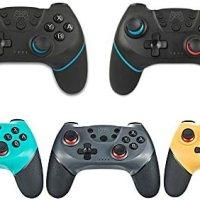 Decdeal Kablosuz BT Gamepad Oyun Joystick Denetleyicisi, Switch Pro Gamepad Anahtar Konsolu ile Uyumlu 6 Eksen Saplı 15
