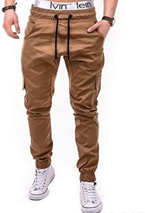 WOCACHI Mens Joggers Pants Color Block Patchwork Sports Side Stripe Active Gym Running Street Style Workout Sweatpants